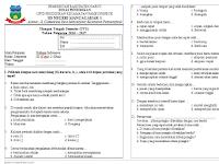 Soal Soal UTS Kelas 3 SD Semester 2