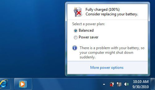 Windows 8 1 Change Battery Charge Level : It information fix consider replacing your battery