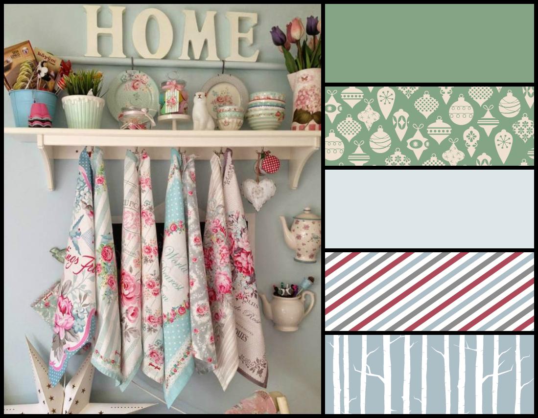 Dom Na Ciepło Inspiracje na domowe dekoracje  kuchnia pastelami wymalowana -> Inspiracje Domowe Kuchnia