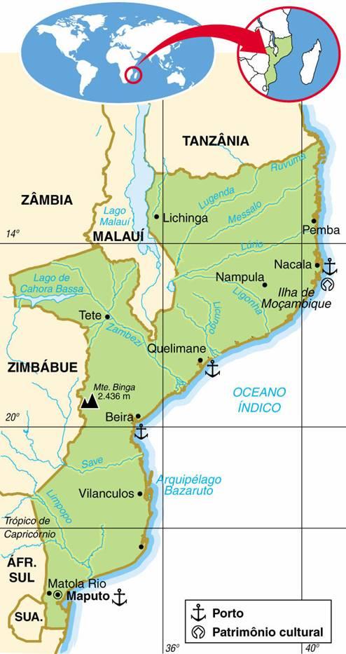 MOÇAMBIQUE, ASPECTOS GEOGRÁFICOS E SOCIOECONÔMICOS DE MOÇAMBIQUE