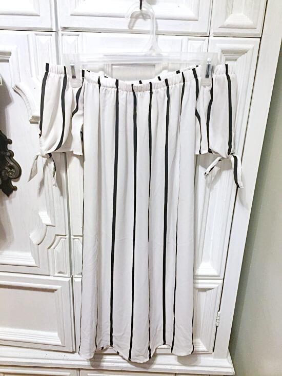 rue21 striped off-the-shoulder dress