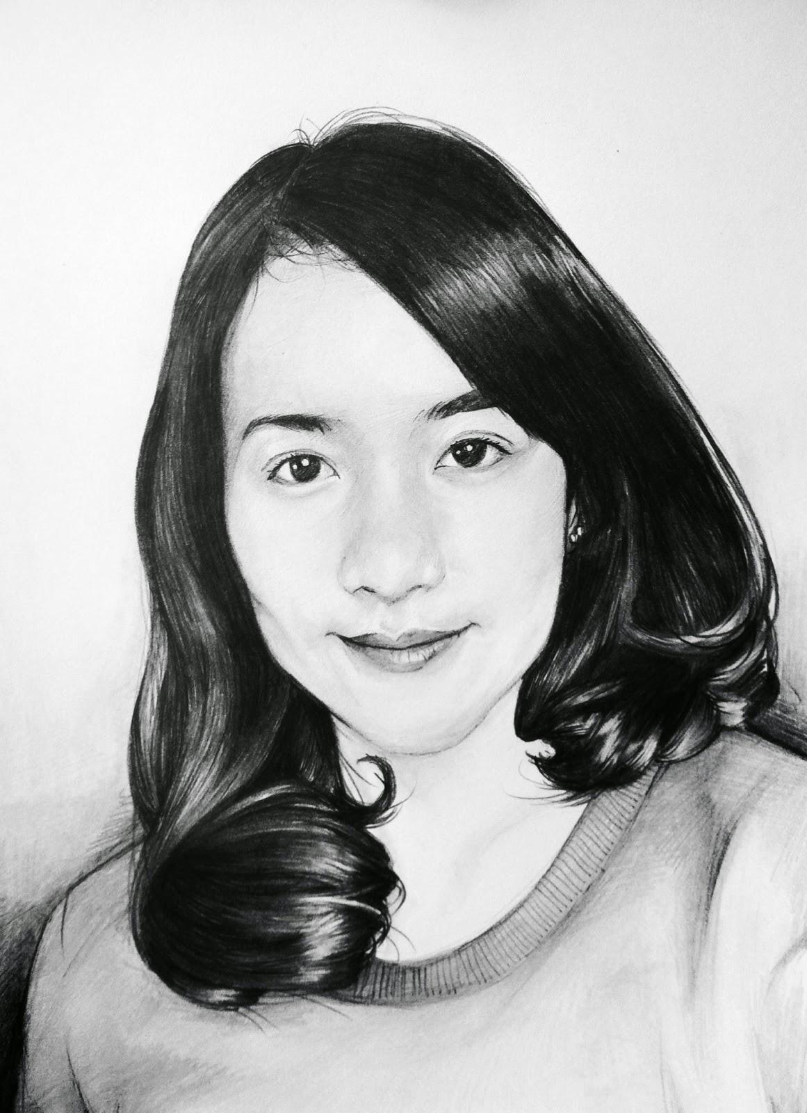 Gambar Sketsa Wajah Pria Dan Wanita