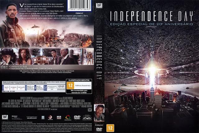 Capa DVD Independence Day Edição Especial de 20º Aniversário