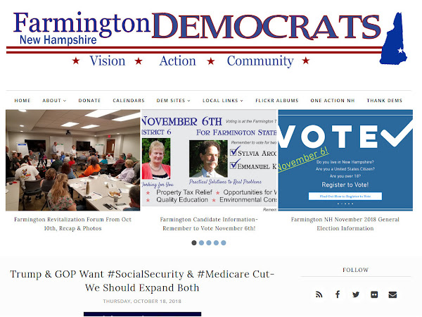 Upgrade To The Farmington Dems Website