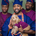 Checkout this photo of Banky W and his dog in Asoebi at his wedding