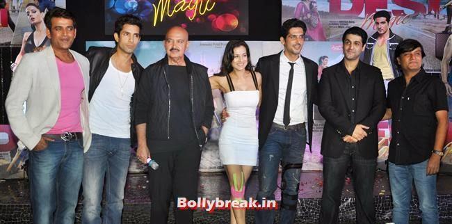 Rakesh Roshan, Amisha Patel and Zayed Khan, Hot Amisha Patel in White Dress at Desi Magic Poster Launch