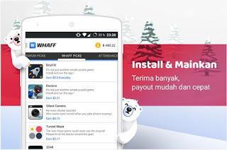 Cara mendapatkan uang menggunakan whaff aplikasi android