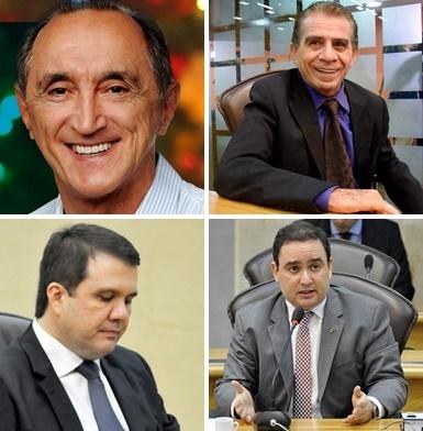 Getúlio e Raimundo estão entre os melhores colocados na Pesquisa Consult para deputado estadual; Galeno e Gustavo não aparecem entre os possíveis eleitos.