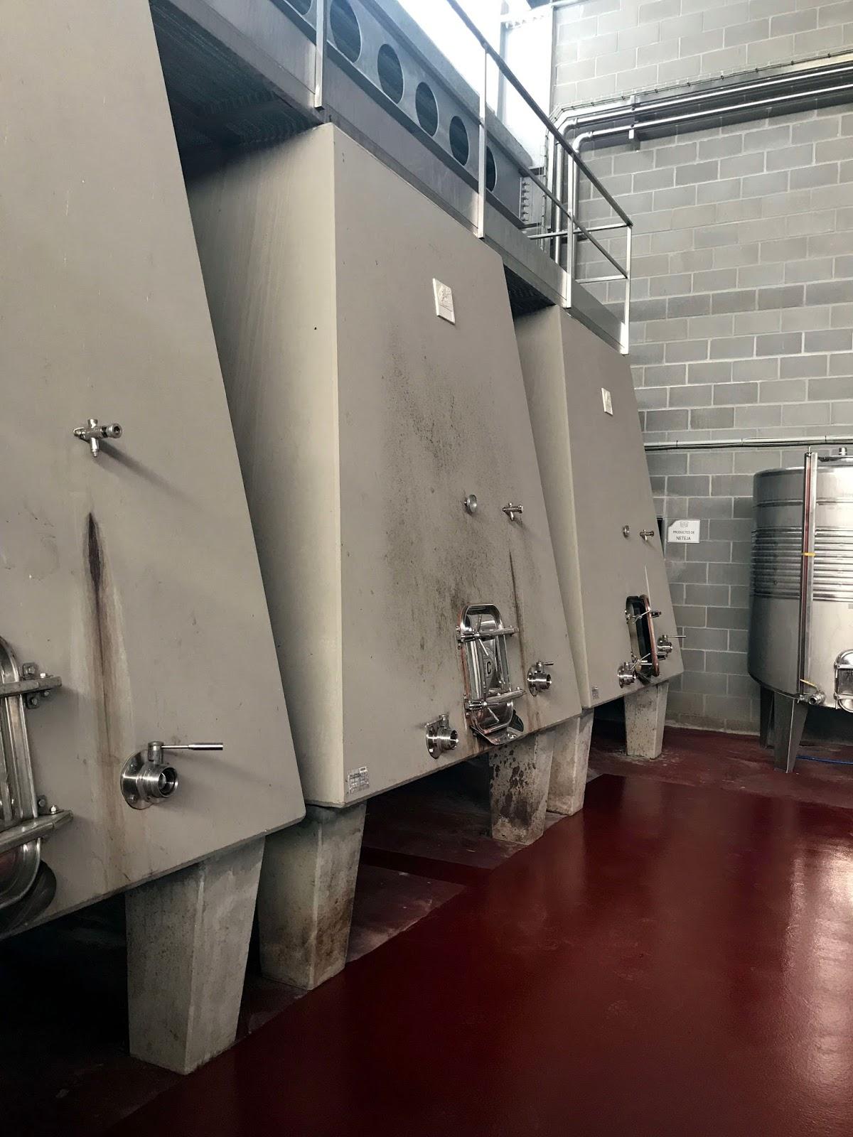 Stitch & Bear - Torres Priorat - Concrete winemaking tanks