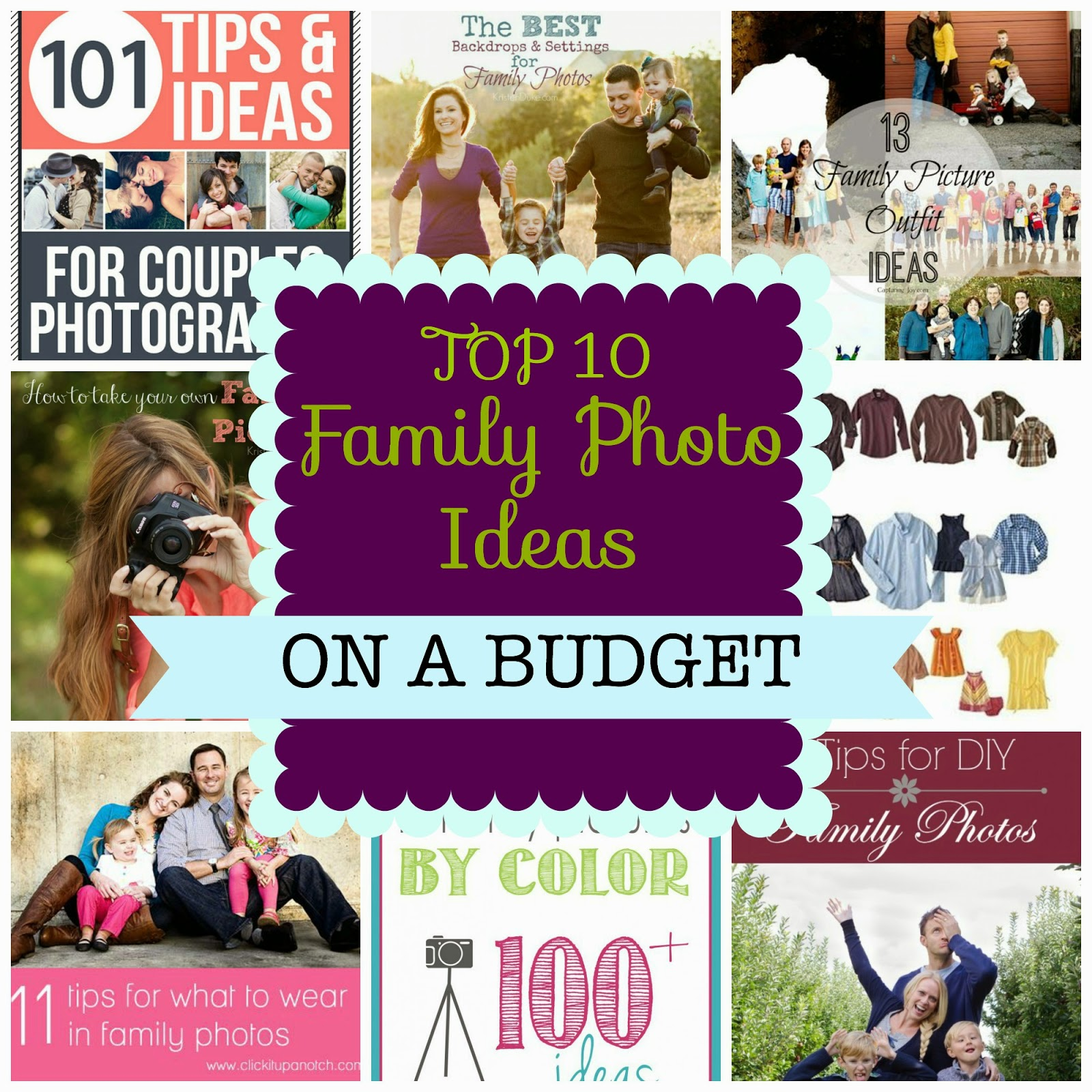 Top 10 Family Photo Ideas on a Budget