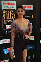 Hansika Motwani in Glittering Deep Neck Transparent Leg Split Purple Gown at IIFA Utsavam Awards 08.JPG