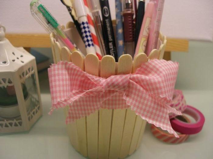tempat pensil dari stik es krim