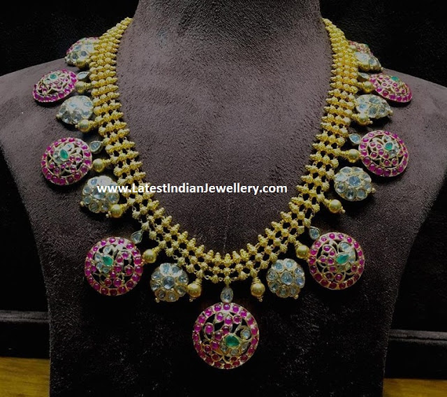 Ruby Polki Bottu Classic Necklace