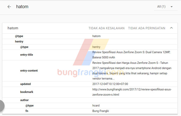 Mengatasi Error Missing Author dan Updated pada Webmaster Tool