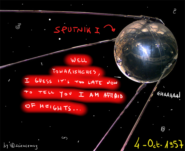 Sputnik I is afraid of heights