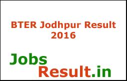 BTER Jodhpur Result 2016