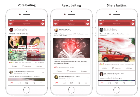 Facebook: Fighting Engagement Bait That Takes Advantage of News Feed