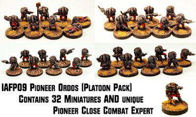 Two 15mm Shia Khan Pioneer packs and platoon pack with free extra miniature released!