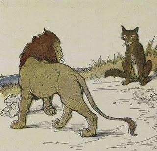 fábula el león y los lobos