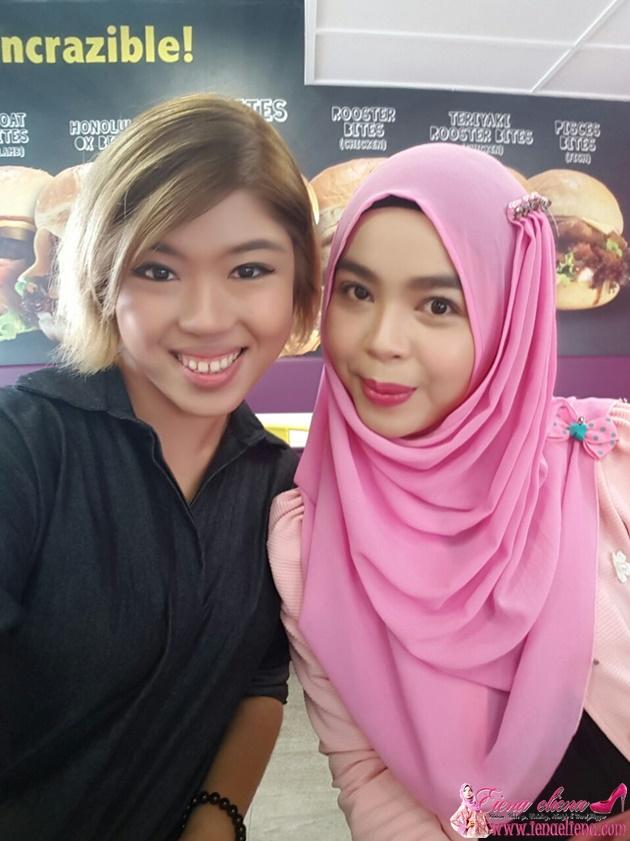 Cik iena bersama Rakan Blogger Joanne