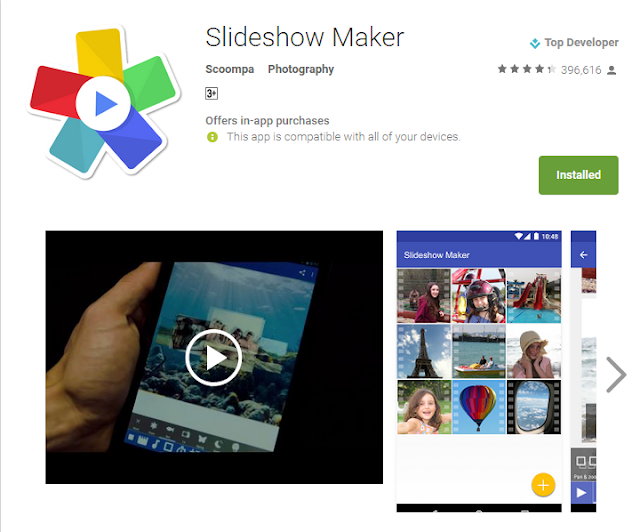 Best Slideshow video maker for android
