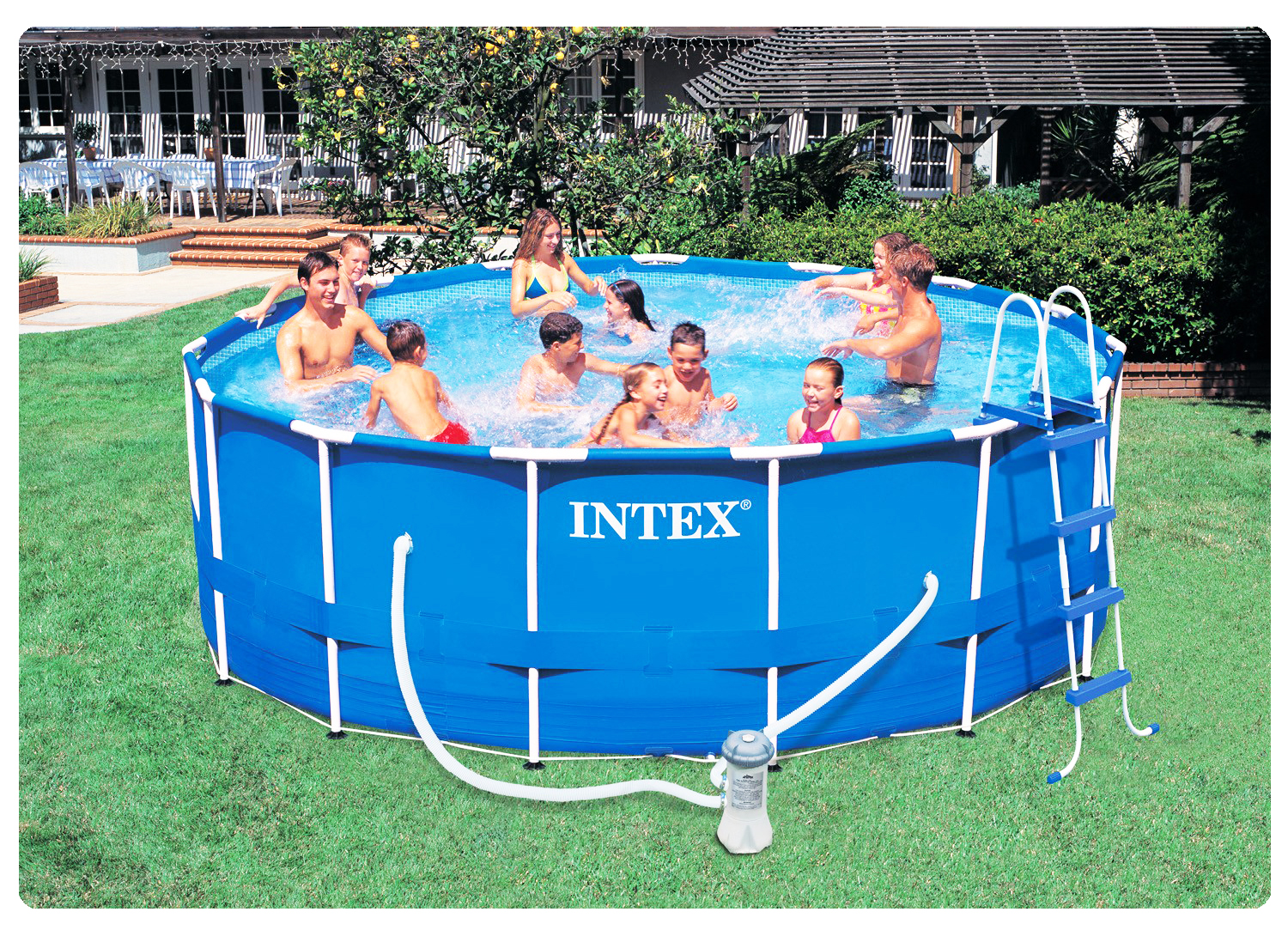 Piscinas easy set piscinas intex for Piscinas rectangulares intex