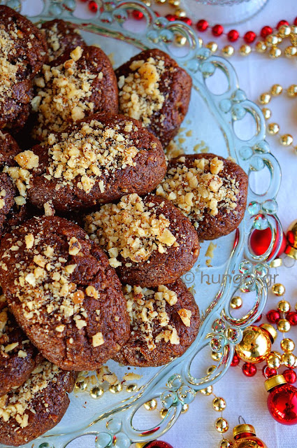 Melomakarona Honey Cookies with Dark Chocolate