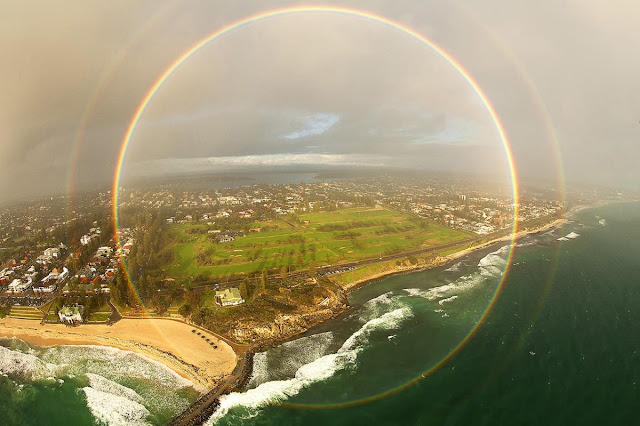 Full-Circle Rainbow over Cottesloe Beach