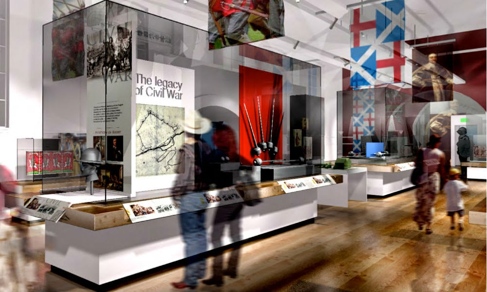 Artist's impression of some of the displays
