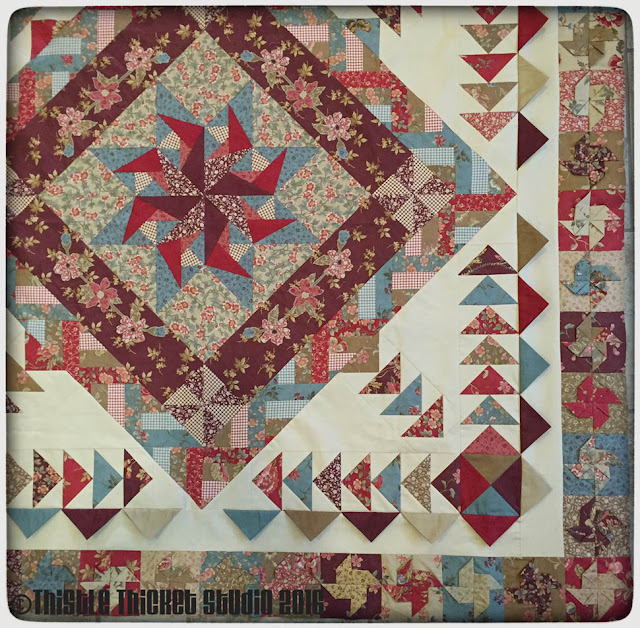 Medallion Quilt Challenge by Thistle Thicket Studio. www.thistlethicketstudio.com