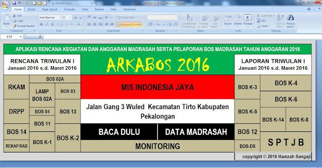 DOWNLOAD ARKABOS MENGGUNAKAN FORMAT EXCEL TAHUN 2016