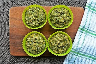 Wytrawne muffiny z brokułami i pędami bambusa