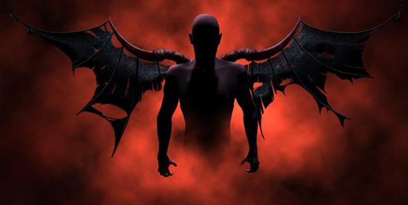demonio en el infierno