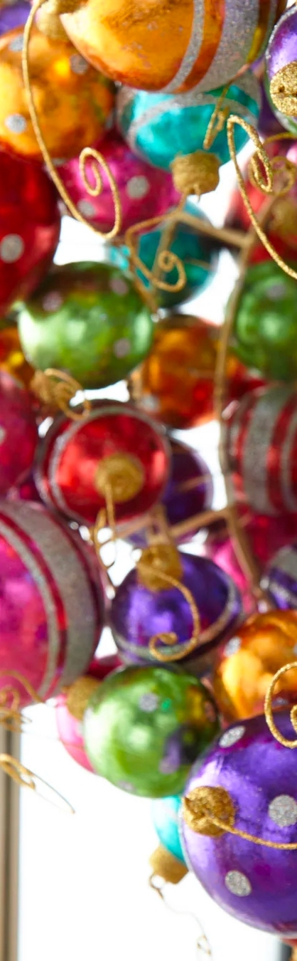 "Holiday Ball Wreath, 16"""