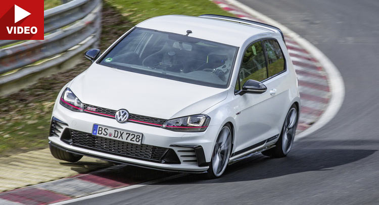 watch the vw golf gti clubsport s amazing 7 n rburgring lap. Black Bedroom Furniture Sets. Home Design Ideas