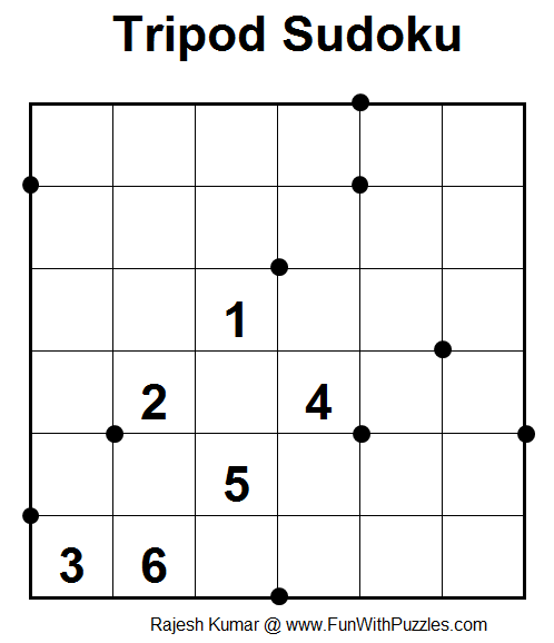 Tripod Sudoku (Fun With Sudoku #12)