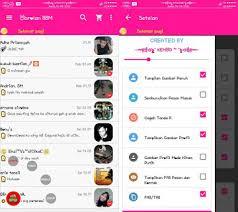 BBM Mod Tema Pink Kemod v2.12.0.11 apk (Not Clone)