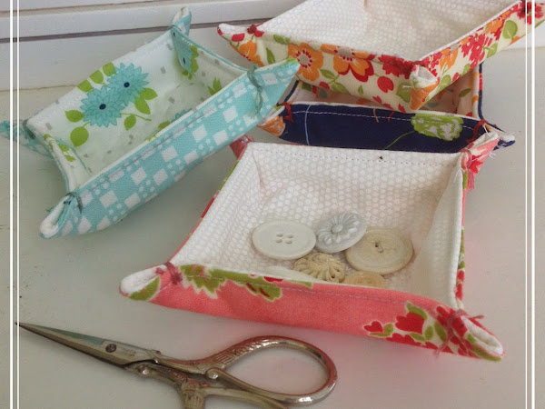 Charm Square Fabric Trays