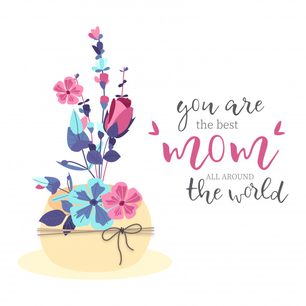 Lovely Mother's Day Bouquet Free Vector