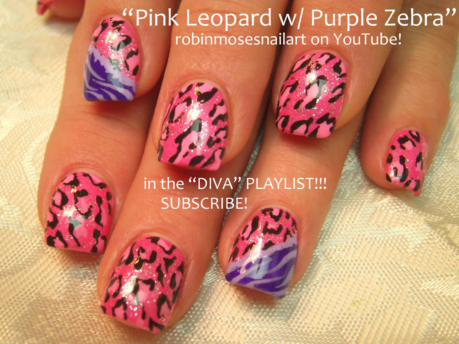 Pink and purple animal print see thru tights 5