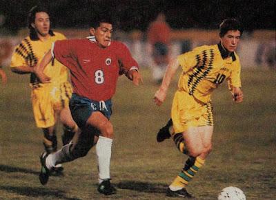 Chile y Australia en partido amistoso, 23 de abril de 1996