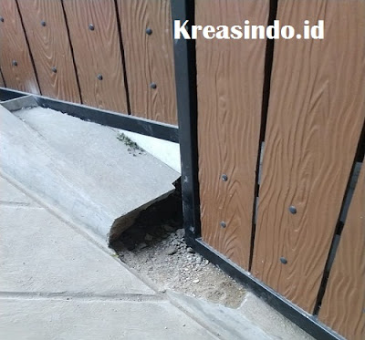 Pintu Besi Kombinasi GRC Pesanan Bu Yudha di Ciawi Bogor Selesai Terpasang
