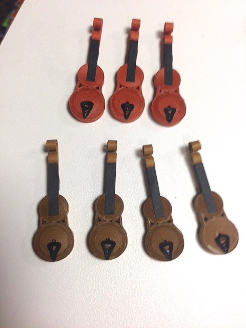 quilled violins in progress