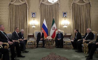 Vladimir Putin, Hassan Rouhani, diplomats