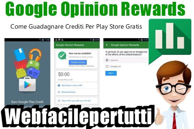 Google Opinion Rewards | Applicazione che ti permette di guadagnare premi da Google