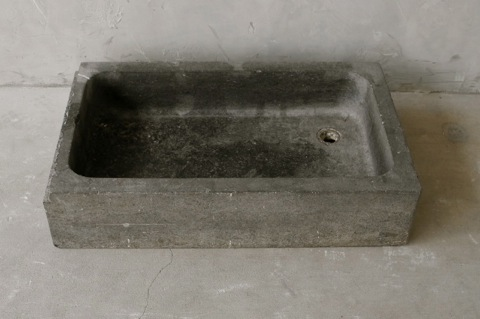 19th Century Belgian Blue Stone Sink from Antwerp via Chateau Domingue as seen on linenandlavender.net