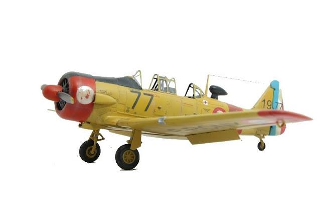 Maquette du T-6 d'Italeri au 1/48