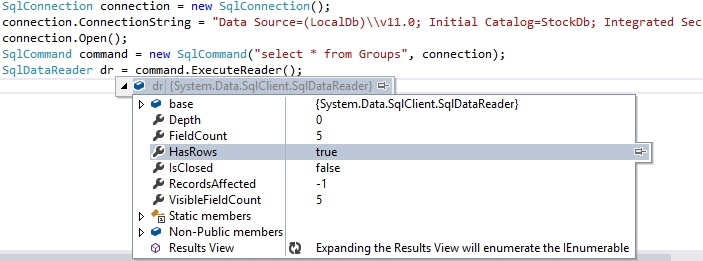 Execute SQL Statement in ADO.NET