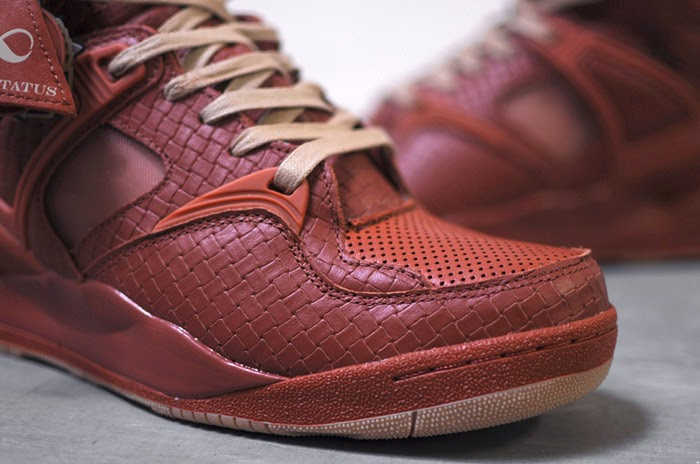 8687790474e503 ... while perforated leather adorns the toe box and high-top ankle  detailing. A gum rubber outsole and waxed tan laces add the final touches.