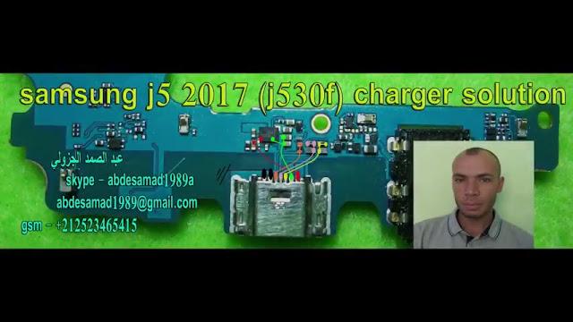 samsung j5 2017 (j530f) charger+usb solution ways مسارت الشحن والبيانات